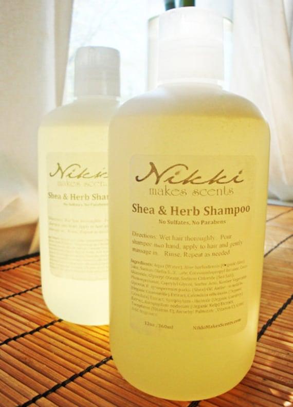 MACINTOSH & PEACH - Shea and Herb Shampoo, No Parabens or Sulfates
