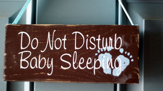 Custom Do Not Disturb Baby Sleeping wood door hanger sign
