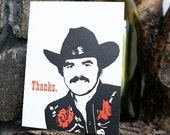 Burt Reynolds letterpress Thank You funny card