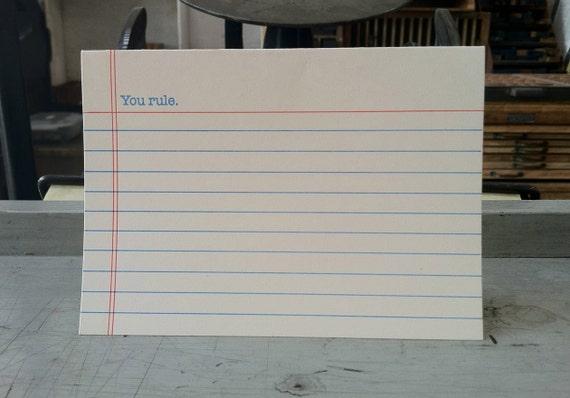 You Rule letterpress card