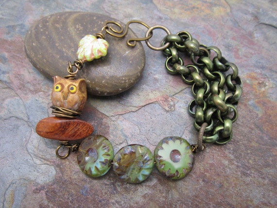 Great Expectations Mama Owl One of a Kind Bracelet