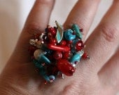 Fireworks Ring, Blue Red