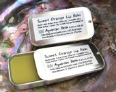 Sweet Orange Lip Balm Vegan - Lip Balm Tin - Plastic Free