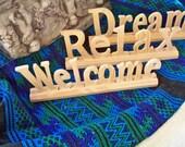 5 Wooden Inspirational Words