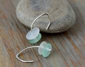 Sea Glass Jewelry Sea Glass Earrings Aqua Sea Glass