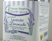 Tuscan Lavender Lemonade Gourmet Drink Mix Crystals with All Natural Ingredients - gift tea tin 14 oz