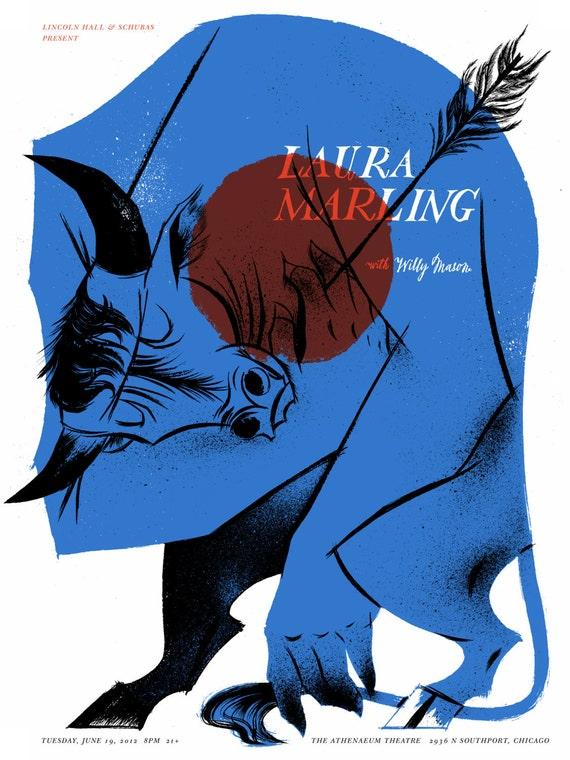 Laura Marling Screenprinted Poster