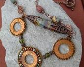 Copper necklace- Ancient Wheels