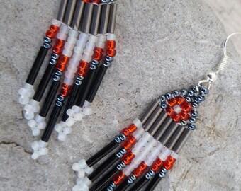 Beaded Earrings- Little Arrow