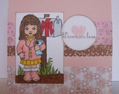 Wishing You Love handmade card
