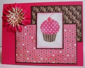 Polka-Dot Cupcake Card