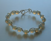 Opalite and Silver Bracelet