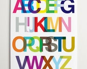 ModernPOP, Modern Alphabet - Pop Art, An Alphabetic Ode to Helvetica - Typography - Wall Decor - Art for playrooms