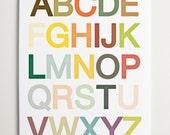 Alphabet Wall Art Print by ModernPOP - Nursery Art - Baby Playroom - Baby Shower Gift