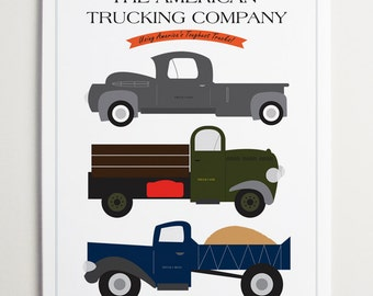 The American Trucking Company, Truck Print by ModernPOP
