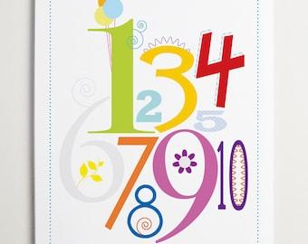 ModernPOP Nursery Wall Art Number Print
