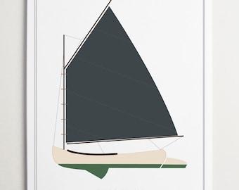 Sailboat No. 1075, Nursery Art by ModernPOP