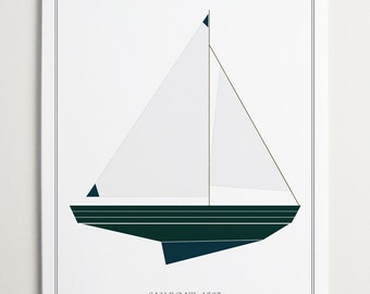 Sailboat No. 1583 Wall Art by ModernPOP