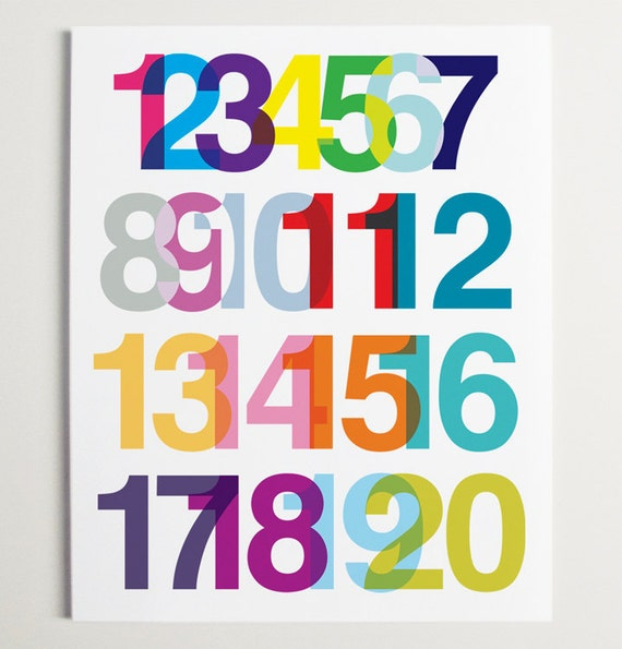 ModernPOP, Modern Number Pop Art, A Numerical Ode to Helvetica