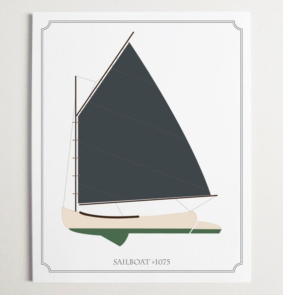 Sailboat No. 1075, Nursery Art by ModernPOP