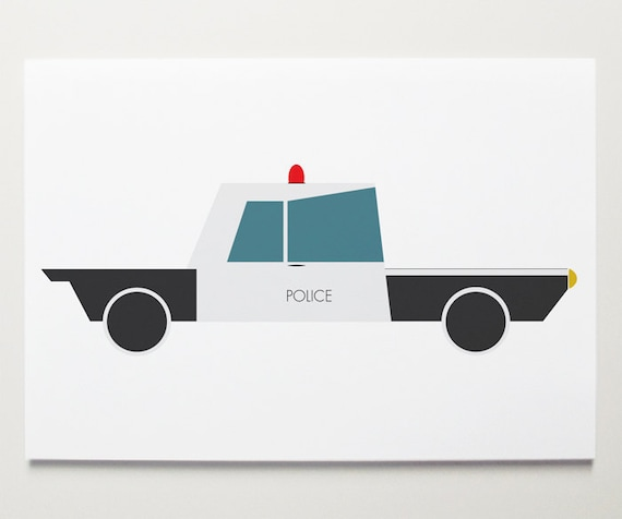 Police Car Wall Art by ModernPOP