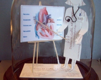 Doctor Cardiology Cardiologist Business Card Sculpture -Male Design 8913M or Female 8913F -or any figure, hobby, sport or Profession