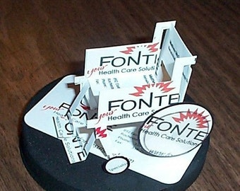 Business Card Sculpture Wheelchair -any Theme, Sport or Profession