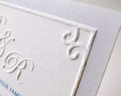 Embossed Wedding Invitations Traditional Border