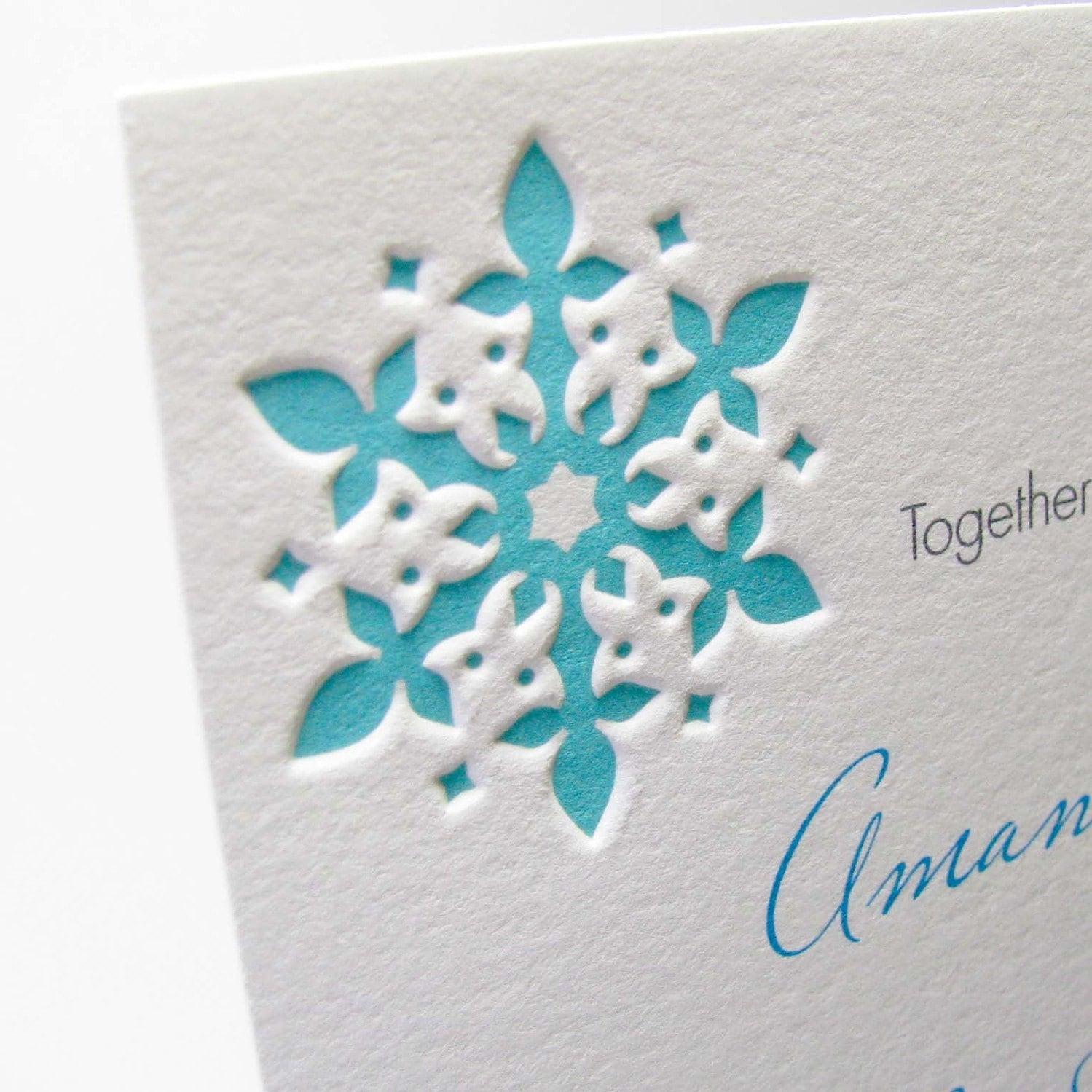 Items Similar To Snowflake Wedding Invitations On Etsy