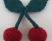 Knitted Cherry Brooch...