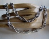 DNA Chain Sterling Silver Handmade Chainmaille