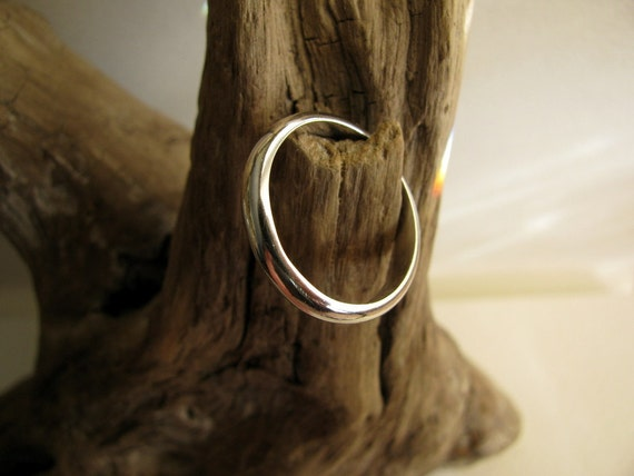 Sterling Silver Ring Plain, Stacking Ring, Handmade Wedding Band Size 8 1/4