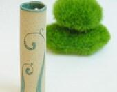 little fiddlehead bud wall vase