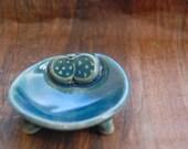 Dasik Peacock Blue mini salt and pepper dish - Fig Motif