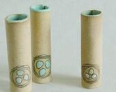 Set of 3 Robin's Egg Mini Bud Wall Vases
