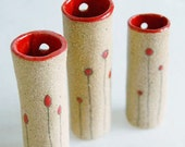 little red bud wall vase