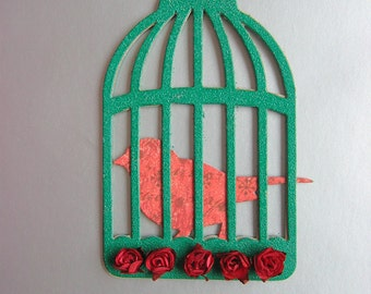 Green Birdcage Home Decoration