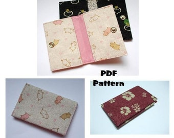 Instant Download PDF Pattern - CASIE Card Wallet PDF Sewing Pattern - A4-size Paper Format