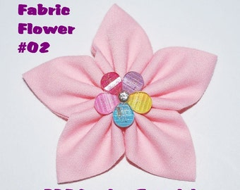 Instant Download - PDF Tutorial - Fabric Flower 02 Sewing Pattern - Letter-size Paper Format