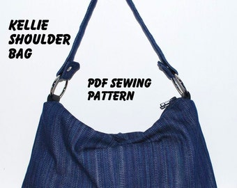 Instant Download PDF Pattern - KELLIE Shoulder Bag PDF Sewing Pattern - Letter-size Paper Format