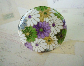 Pocket Mirror - Colourful Flowers