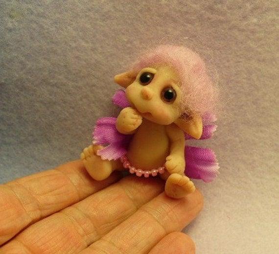 A little baby toddler elf  flower FAIRY  infant