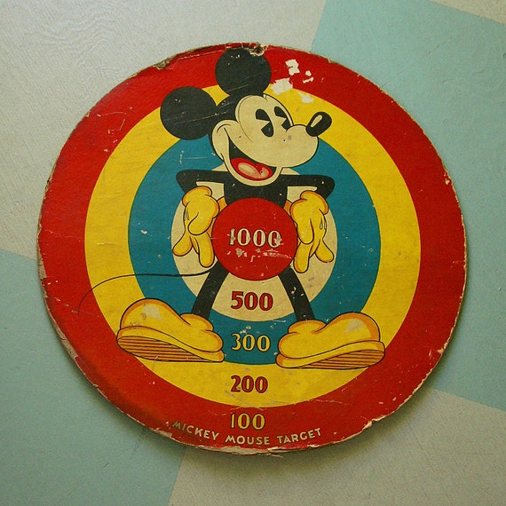 Disney Mickey Mouse Target Game Board from 1934