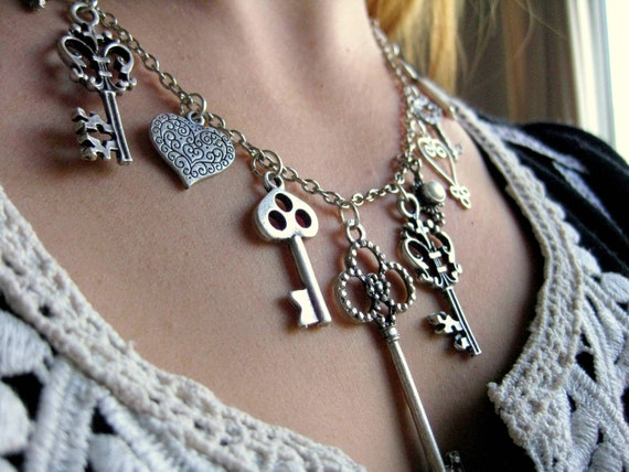 RESERVED FOR KELLY Keys to Secret Doors Necklace