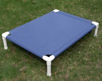 Dog Bed, Large Dog Cot, Custom Made Dog Beds, 13 Canvas Colors 38x50x10 Medium To Large Dogs Up To 130 Pounds.
