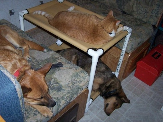 Cat Bunk Beds, Window Dogs Cots, Cat Hammocks, Cat Bed, Dog Bunk Beds, Canvas Dog Bed, Pet Beds Custom Made Beds Dogs 13 Canvas Colors 22x30