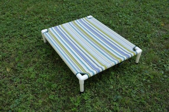 Dog Bed, PVC Outdoor Dog Cot 28x36x8 High End Patio & Lawn Fabric. Comfort Cots / Finished Ready To Ship