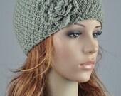 Winter City - SAGE Hat with flower