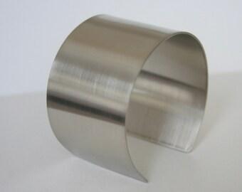 "1.5"" Wide Metal Cuff, Minimal Cuff, Simple Cuff, Metal Bracelet, Brushed Finish,  Handmade Cuff, Minimal Cuff, Minimal Jewelry"