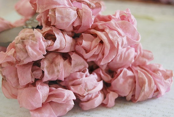 Crinkled Ribbon-Shabby Posie